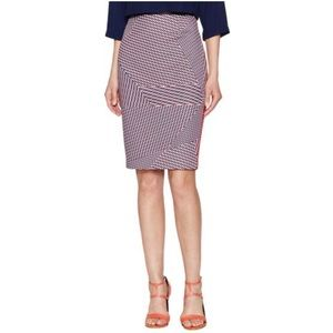 1. State Geometric Multi Color Pencil Skirt M